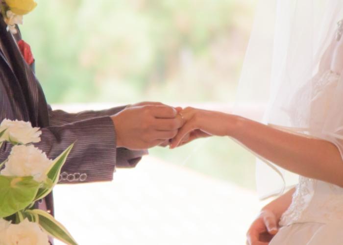 結婚式の様子